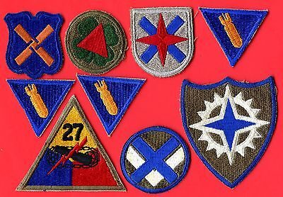US Army 27th Div. Armature Specialist x3 &(12th 13th 14th 15th 16th)Corp Patches