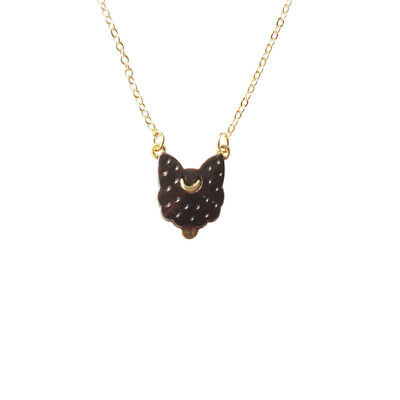 Sailor Moon Luna Cat Metal Necklace Pendant Chain Cosplay Jewelry Cute