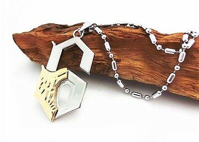 Anime Bleach Letter 6 Blade Grimmjow Jeagerjaques Break Face Metal Necklace Gift