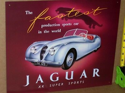 JAGUAR JAG XK Fastest Sport Car In World-OLD SIGN Dated1993 BROUGHT BACK FROM UK