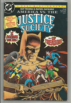 America Vs. The Justice Society * Complete 4 Issue Mini-Series * 1985