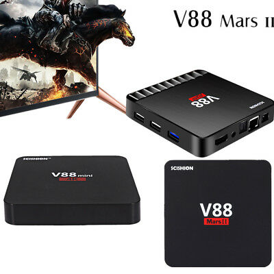 Scishion V88 / Mini / Mars II / Piano 4k H.265 Tv Box Quad Core Android Wi-Fi 3d