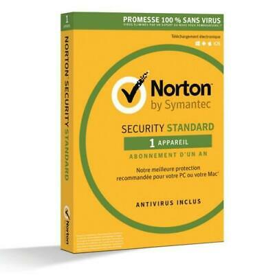 NORTON SECURITY 2016 STANDARD -1 appareil / 1 an-