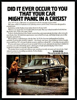 1975 VOLVO 240 Vintage Car Photo AD your car might panic in a crisis