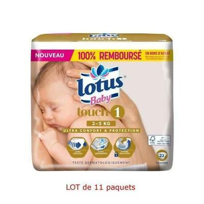 BABY Touch 242 Couches Taille 1 - De 2 a 5 kg - 11 x 22 Couches