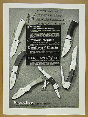 1978 Precise Deerslayer Knives Original LTD Classic & Nuggets vintage print Ad