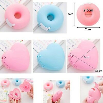 Pink Blue Portable Donut Heart Dispenser Holder w 1 Roll Sellotape Eco Quality