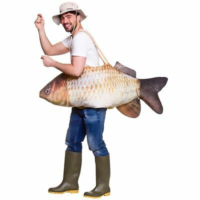 Adult Deluxe Catch Of The Day Fish Fancy Dress Costume Fishing Fun