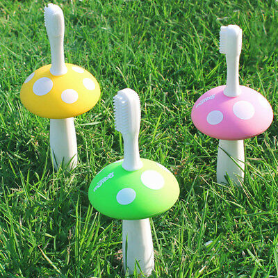 Silicone Mushroom Toothbrush Baby Teether Training Soft Toothbrushes Tooth Clean
