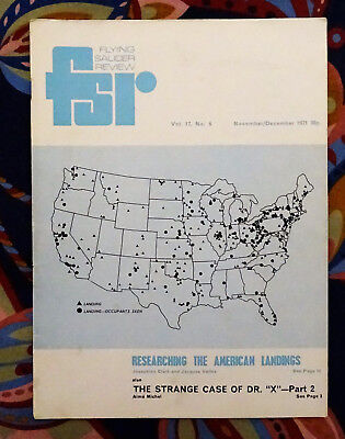 FLYING SAUCER REVIEW MAGAZINE Vol 17 No.5 1971 The Strange Case of Dr X FSR UFO