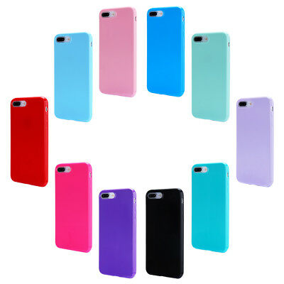 For iPhone 8 Plus XS Case Ultra Slim Soft Shockproof Silicone Rubber Gel TPU