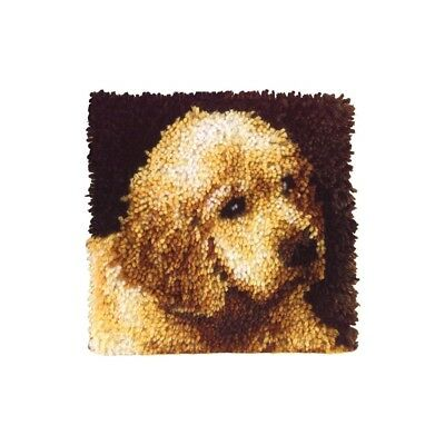 "Latch Hook Kit 12""sq Puppy Love - 12 Wonderart 12x12 Caron Dog Dogs Puppies"
