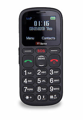 TTfone Comet Big Button Mobile Phone - Vodafone Pay As You Go with £10 Credit