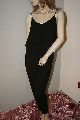 Jumpsuit * Overall schwarz PIMKIE mit Volant Party Strand Sommer nw M