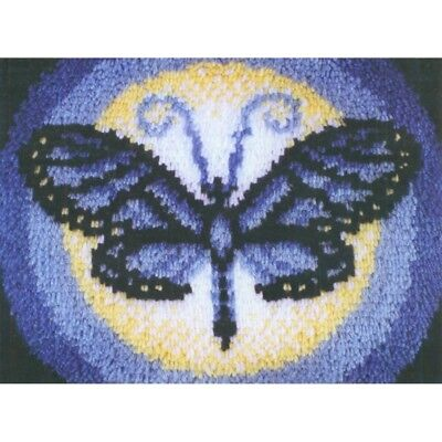 Latch Hook Kit 15x20 Butterfly - Wonderart Moon Spinrite Steel