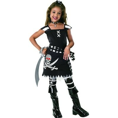 Drama Queens:scar-let S - Fancy Dres Pirate Girl Costume Child Scarlet