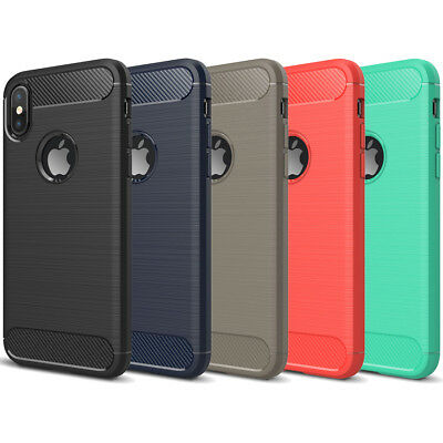 DD Carbon Fibre TPU Rugged Case Cover For Apple iPhone XR XS Max X 8 7 6s 6 Plus