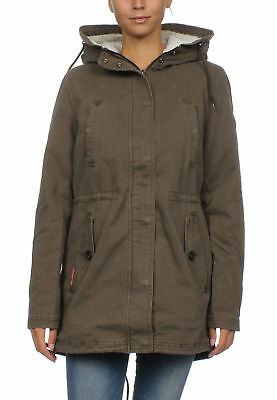 SUPERDRY VESTE FEMMES Rookie Yellow Weather Tigre Parka Kaki
