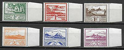 German Occupation JERSEY stamps 1943 MI 3-8 MNH VF