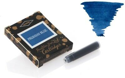 Diamine Prussian Blue Ink Cartridge For Fountain Pens 18 Per Package DM-8018