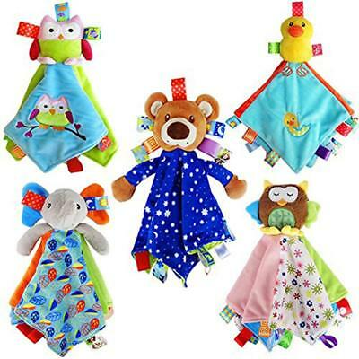 Baby Kids Soft Plush Security Blanket Cute Teething Cloth Comforter BL3