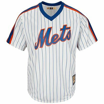 New York Mets White Cool Base 1969 Cooperstown Majestic Jersey XXL
