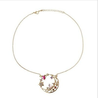 Sailor Moon 25th Anniversary Neptune Hollow Metal Pendant Necklace Chain Jewelry