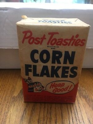 1930s FULL Sample Size POST'S Toasties Corn Flakes Indian Child Never Opened