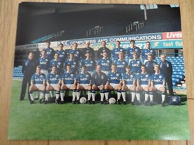 1993/94 - EVERTON - 10x8 TEAM PICTURE - ORIGINAL PHOTOGRAPH