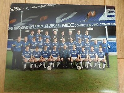 1993/94 - EVERTON - 10x8 TEAM PICTURE - ORIGINAL PHOTOGRAPH - MIKE WALKER