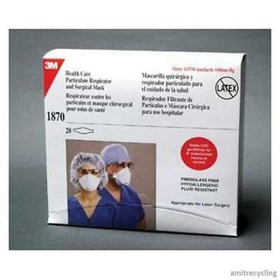 3M N95 Surgical Mask 1870 Health Care Particulate Respirator 1 Box of 20