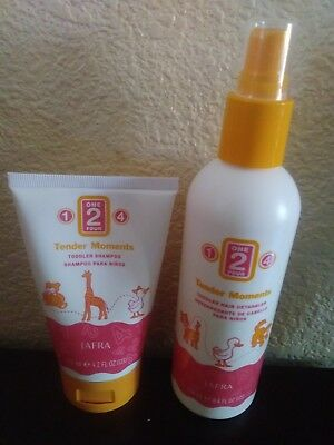 Jafra Tender Moments Toddler Hair Care Products (Hair Detangler and Shampoo)