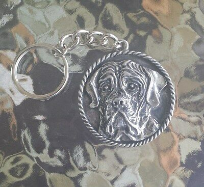 House Pet Dog Animal 1 Purebred Mastiff Pewter Key Chain All New.