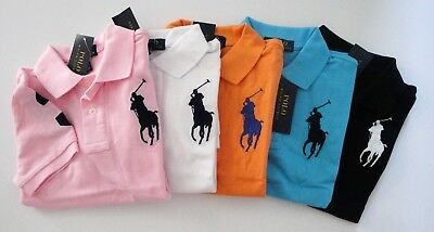 NWT Ralph Lauren Boys SS Big Pony Classic Solid Mesh Polo Shirt 2/2t 3/3t 4t NEW