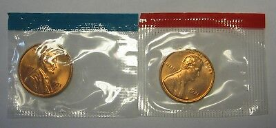 1971-D and 1971-S Gem BU Lincoln Cents in Original Mint Cello Packs