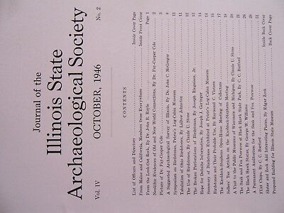 Rare Vintage Copy Of The Oct. 1946 Journal Of The Illinois State Arch. Society