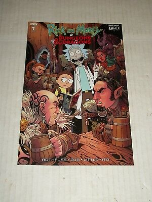 IDW RICK AND MORTY VS DUNGEONS AND DRAGONS #1 1:25 Variant NM/M