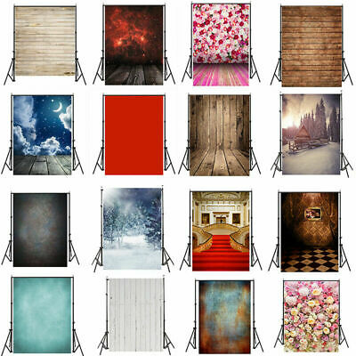 3/5/7FT Retro Plank Solid Christmas Flower Wall Photography Backdrop Background