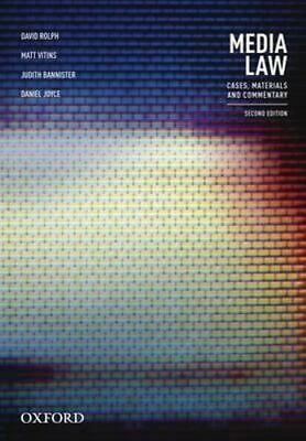 NEW Media Law By David Rolph Paperback Free Shipping