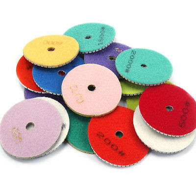 4Inch Diamond Polishing Pads Wet Buffing For Granite Stone Concrete Marble 100mm