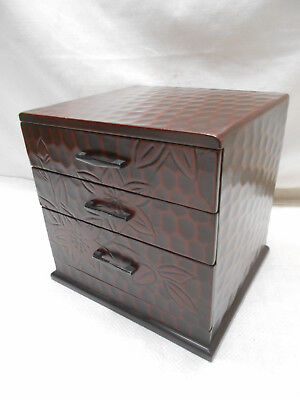 Vintage Japanese Decorative Storage Jewellery Document Box Circa 1970s #811