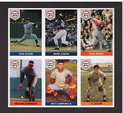 All Time Greats Baseball Series Uncut 6 Card Sheetbonus Ted Williams Babe Ruth