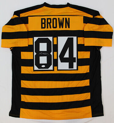 PITTSBURGH STEELERS ANTONIO Brown Signed Custom White Jersey Jsa Coa ... 4b90d026d