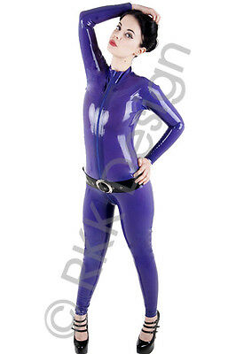 XXXL 100% Latex Rubber PURPLE Catsuit Second Skin Top Quality *HOT*