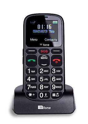 TTfone Comet Big Button Mobile Phone Elderly EE Pay As You Go with £10 Credit