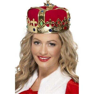 Ladies Gold Jewels Crown Queen Princess Historical Fancy Dress Costume Hairband