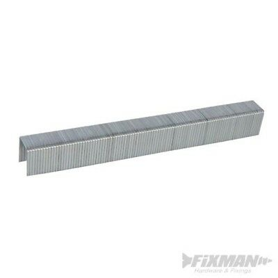 Fixman 810318 10j Galvanised Staples 11.2 x 12 x 1.16mm Pack Of 5000 - 5000pk 1