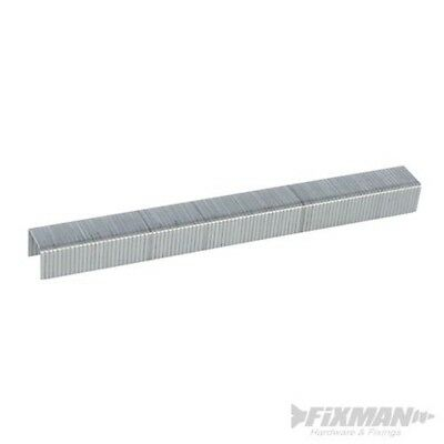 Fixman 470282 10j Galvanised Staples 11.2 x 8 x 1.16mm Pack Of 5000 - 5000pk