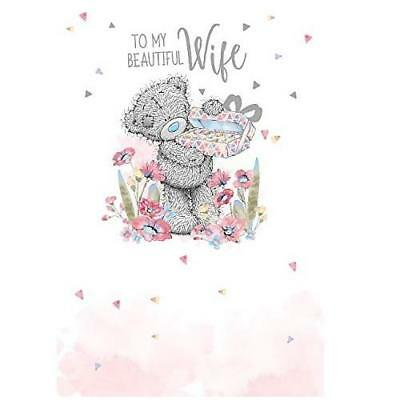 Me To You To My Beautiful Wife Birthday Card Tatty Teddy Bear New