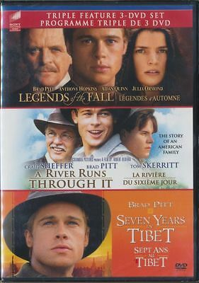 Legends of the Fall/A River Runs Through It/Seven Years in Tibet (DVD, 2011) NEW